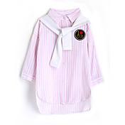 Camisa Chica Rayas Algodón Mangas largas Otoño Rosa