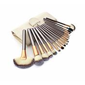 18pcs Sistemas de cepillo Pincel de Poni Pelo Sintético