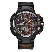Hombre Reloj digital Reloj Deportivo Reloj de Pulsera Reloj Casual Suizo Digital Calendario Dos Husos Horarios Cronómetro Silicona Caucho