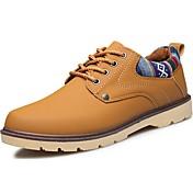 Hombre Zapatos PU Primavera Otoño Confort Oxfords Para Casual Negro Amarillo Azul