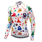 FUALRNY® Maillot de Ciclismo Hombre Manga Larga Bicicleta Camiseta/Maillot Ropa para Ciclismo Alta elasticidad Ciclismo de Montaña