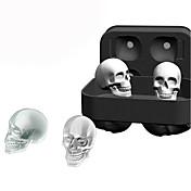 3次元シリコン頭蓋骨アイスキューブモールドウィスキーカクテルアイスボールアイスクリームメーカートレーバーDIYツール