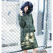 Abrigo Mujer Simple Casual/Diario,Un Color Algodón Polipropileno Manga Larga,
