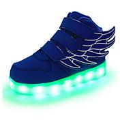 Chico Zapatos Cuero Primavera / Otoño Confort / Innovador / Zapatos con luz Zapatillas de deporte Cinta Adhesiva / LED para Rojo / Verde