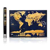 Scratch Off Mapa del mundo para viajeros Juguetes Mapa Clásico 1 Piezas