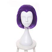 Kvinder Syntetiske parykker Lågløs Kort Glat Bright Purple Natural Hairline Cosplay Paryk Naturlig paryk Festparyk Celebrity Paryk