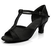 Mujer Zapatos de Baile Latino Sintético Tacones Alto Tacón Personalizado Personalizables Zapatos de baile Negro / Morrón Oscuro