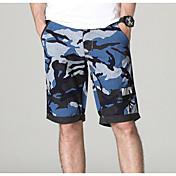 男性用 活発的 ストレート ショーツ パンツ カモフラージュ