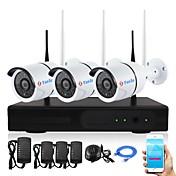 3channel 1080p wireless nvr kits a prueba de agua ir visión nocturna wifi cámara ip sistema de seguridad 3 unids 2.0mp cámara 8963p1120