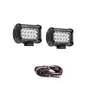 10 unids 54 w 5400lm 6000 k 3 filas led luz de trabajo fresco spot offroad luz de conducción para el coche / barco / faro ip68 9-32 v dc