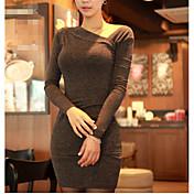 Mujer Corte Bodycon Vestido Un Color Mini