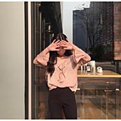 Mujer Bonito Sensual Ropa Cotidiana Camisa,Escote Barco Un Color Manga Larga Nailon