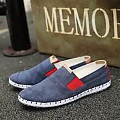 Hombre Zapatos Ante Primavera Otoño Confort Bailarinas Paseo para Casual Gris Blanco Azul
