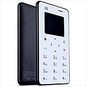 ultra thin aiek x6 mini tarjeta teléfonos delgado estudiante desbloqueado pequeño teléfono móvil móvil