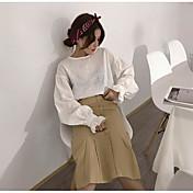 Mujer Simple Casual/Diario Midi Faldas Otoño Un Color
