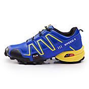 Hombre Zapatos Tul Primavera Otoño Confort Zapatillas de deporte Paseo Para Casual Negro Gris Azul
