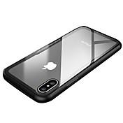 Funda Para Apple iPhone X iPhone X Antigolpes Ultrafina Funda Trasera Color sólido Transparente Dura Vidrio Templado para iPhone X