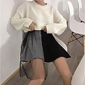 Mujer Bonito Chic de Calle Colegio Casual/Diario Asimétrico Faldas Otoño A Rayas