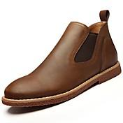男性用 靴 ラバー 春 秋 コンフォートシューズ ブーツ のために アウトドア ブラック Brown