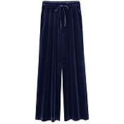 Mujer Corte Ancho Perneras anchas Pantalones - Un Color