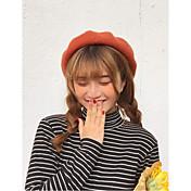 レディース 秋 冬 カジュアル ウール 純色 ベレー帽