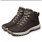 メンズ 靴 レザー 春 秋 コンフォートシューズ アスレチック・シューズ ハイキング 編み上げ 用途 カジュアル ブラック Brown ライトグレー