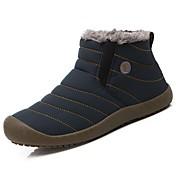 Hombre Zapatos Tejido Invierno Botas de nieve Botas para Casual Azul Oscuro Gris