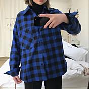 レディース カジュアル/普段着 シャツ,キュート シャツカラー プリント コットン 長袖