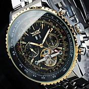男性用 ファッションウォッチ リストウォッチ 機械式時計 スケルトン腕時計 自動巻き カレンダー ステンレス バンド ぜいたく カジュアル クール