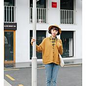 Mujer Regular Cardigan Ropa Cotidiana Noche Un Color Escote en Pico Manga Larga Acrílico Primavera/Otoño Medio strenchy