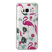 Funda Para Samsung Galaxy S8 Plus S8 IMD Diseños Cubierta Trasera Flamenco Brillante Suave TPU para S8 Plus S8 S7 edge S7