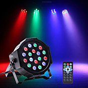 U'King Luces LED Para Escenarios Luces Par LED DMX 512 Maestro-Esclavo Activación por sonido Auto para Fiesta Estado Boda Discoteca