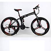 Bicicleta de Montaña / Bicicletas plegables Ciclismo 21 Velocidad 26 pulgadas/700CC 70mm Unisex Adulto SHIMANO Doble Disco de Freno