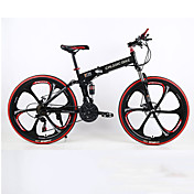 Bicicleta de Montaña / Bicicletas plegables Ciclismo 21 Velocidad 26 pulgadas/700CC Hombre SHIMANO TX30 Doble Disco de FrenoSuspensión