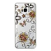 Funda Para Samsung Galaxy S8 Plus S8 IMD Diseños Cubierta Trasera Flor Brillante Suave TPU para S8 Plus S8 S7 edge S7