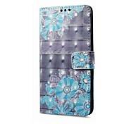Funda Para Samsung Galaxy A8 2018 A8 Plus 2018 Soporte de Coche Cartera con Soporte Flip Magnética Diseños Funda de Cuerpo Entero Flor