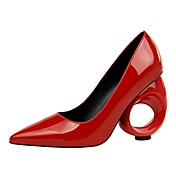 Mujer Zapatos Semicuero Primavera Otoño Confort Tacones Tacón alto para Fiesta y Noche Blanco Negro Rojo Rosa Wine