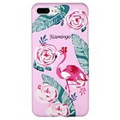 Funda Para Apple iPhone 7 iPhone 6 IMD Diseños Cubierta Trasera Flamenco Caricatura Flor Suave TPU para iPhone X iPhone 8 Plus iPhone 8