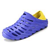 Zapatos PU Primavera Verano Confort Sandalias para Casual Negro Naranja Gris Azul