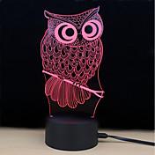 1 juego Luz nocturna 3D Toca 7-Color DC Powered Alivio del estrés y la ansiedad Con puerto USB Color variable