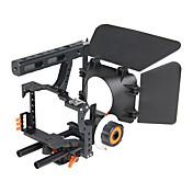 yelangu montaje DSLR populares hombro jaula aparejo de la cámara kit contiene c500 siga cámaras universales enfoque mate caja de apoyo