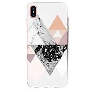 Funda Para Apple iPhone X iPhone 8 Ultrafina Diseños Funda Trasera Diseño Geométrico Mármol Suave TPU para iPhone X iPhone 8 Plus iPhone