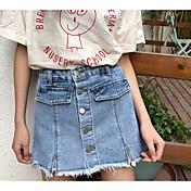 Mujer Activo Vaqueros / Shorts Pantalones - Un Color Blanco y Negro