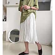Faldas midi a lineas para mujer - color sólido