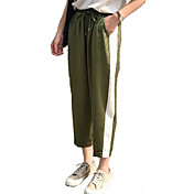 Mujer Chic de Calle Chinos Pantalones - A Rayas / Noche