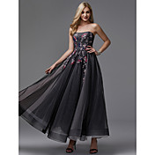 Princesa Sin Tirantes Hasta el Tobillo Tul Fiesta de baile / Evento Formal Vestido con Apliques por TS Couture®