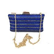 Mujer Bolsos Satín Bolso de Noche Detalles de Cristal Azul Piscina