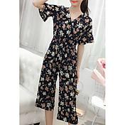 Mujer Conjunto - Floral Pantalón