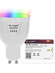 5W Smart LED-lampe A60(A19) 12 SMD 5730 500 lm RGB + Hvid Infrarød sensor Fjernstyret WIFI APP kontrol Lysstyring DæmpbarVekselstrøm