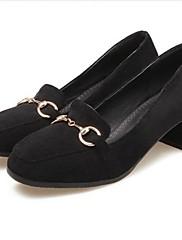 Feminino Sapatos Flanelado Primavera Verão Conforto Sandálias Para Casual Preto Amarelo Cinzento Escuro Verde Tropa